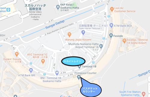 ターミナル1の乗り口の見取り図