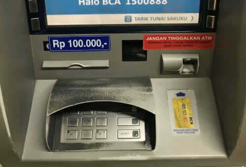 ATMの画面の画像