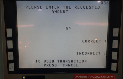 ATMの画面の画像3