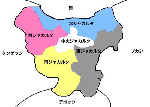 ジャカルタの地図画像