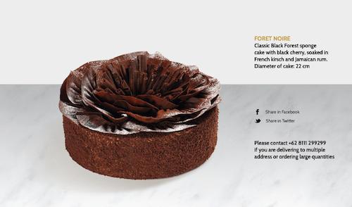 ギャルソンのケーキの画像