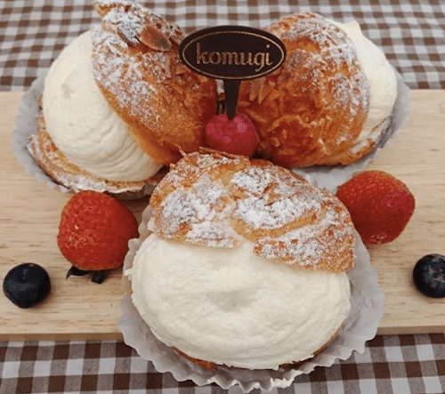 コムギのケーキの画像