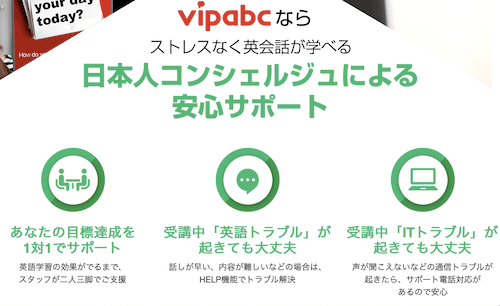 vipabcオンライン英会話スクールの説明画像2